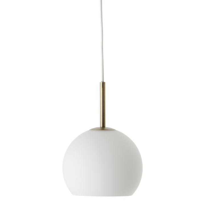 Ball Pendelleuchte Ø 18 cm, Opalglas / Antikmessing von Frandsen