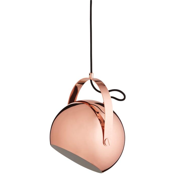 Ball Pendelleuchte mit Griff Ø 19 cm, Kupfer von Frandsen