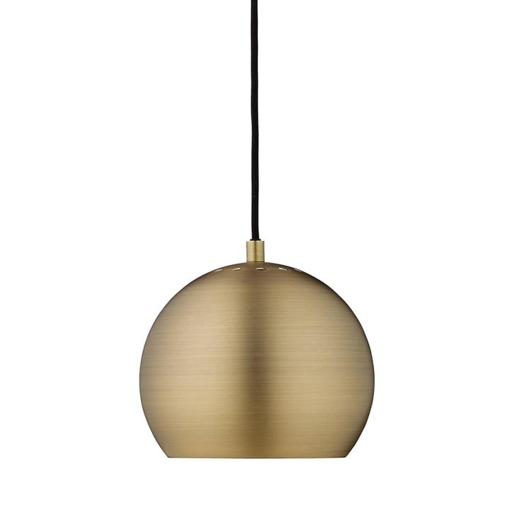 Ball Pendelleuchte Ø 18 cm, Antikmessing matt / weiß von Frandsen