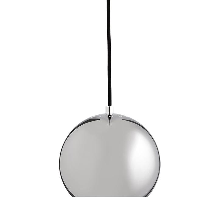 Ball Pendelleuchte Ø 18 cm, Chrom / weiß von Frandsen