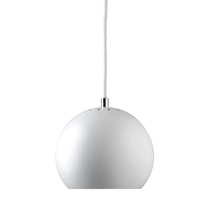 Ball Pendelleuchte Ø 18 cm, weiß matt / weiß von Frandsen