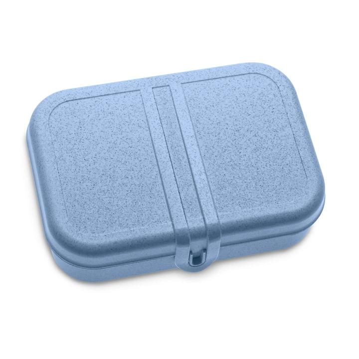 Pascal L Lunchbox mit Trennsteg von Koziol in organic blue