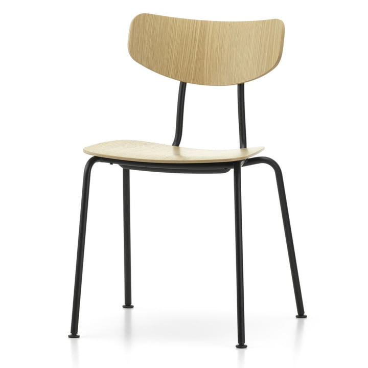 Moca Stuhl von Vitra in Eiche natur / schwarz