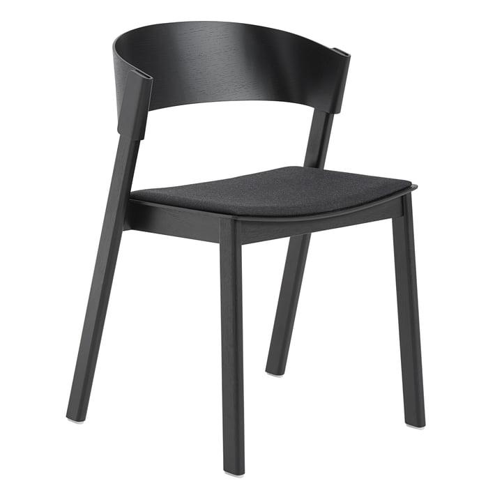 Cover Side Chair von Muuto in schwarz / Remix 183