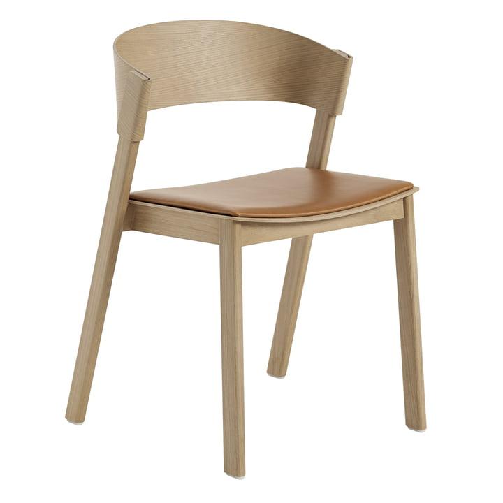 Cover Side Chair von Muuto in Eiche / cognac