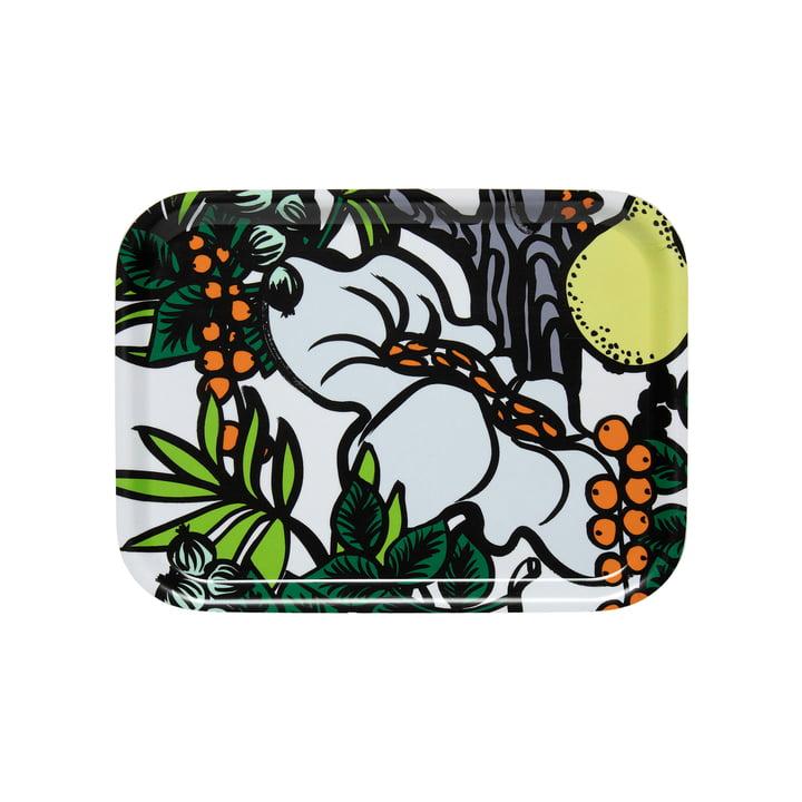 Pala Taivasta Tablett 27 x 20 cm von Marimekko in weiß / grün / orange / gelb
