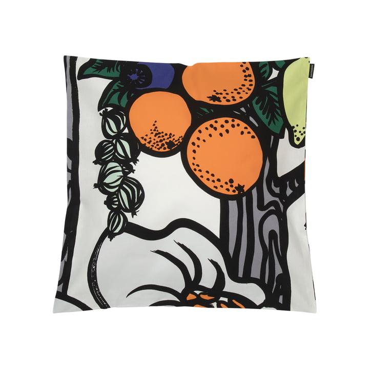 Pala Taivasta Kissenbezug 50 x 50 cm von Marimekko in weiß / orange / grün