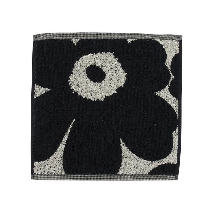 Unikko Jacquard Mini-Handtuch 30 x 30 cm von Marimekko in baumwollweiß / dunkelblau
