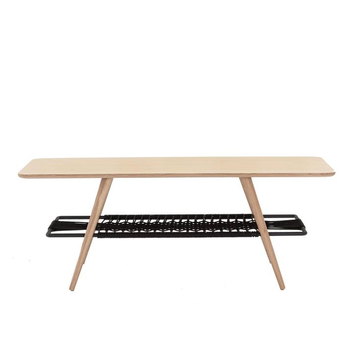 C7 Beistelltisch 120 x 50 x H 45 cm von Andersen Furniture in Eiche weiß pigmentiert / schwarz