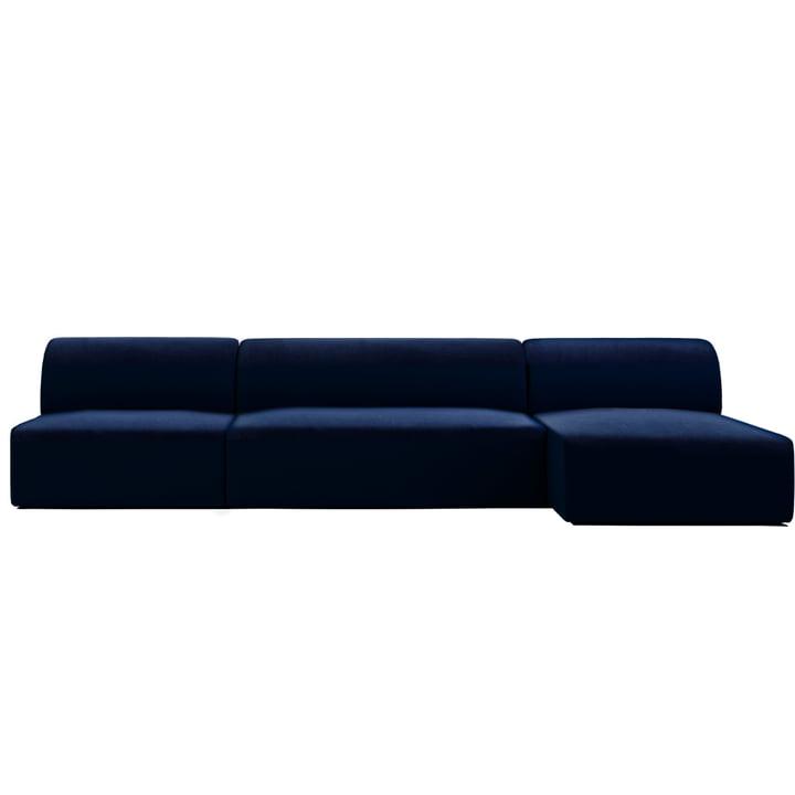 Weber Modulsofa Design 02 von Objekte unserer Tage in dunkelblau (City Velvet CA7832/052)