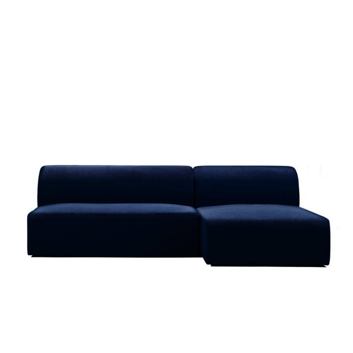 Weber Modulsofa Design 01 von Objekte unserer Tage in dunkelblau (City Velvet CA7832/052)