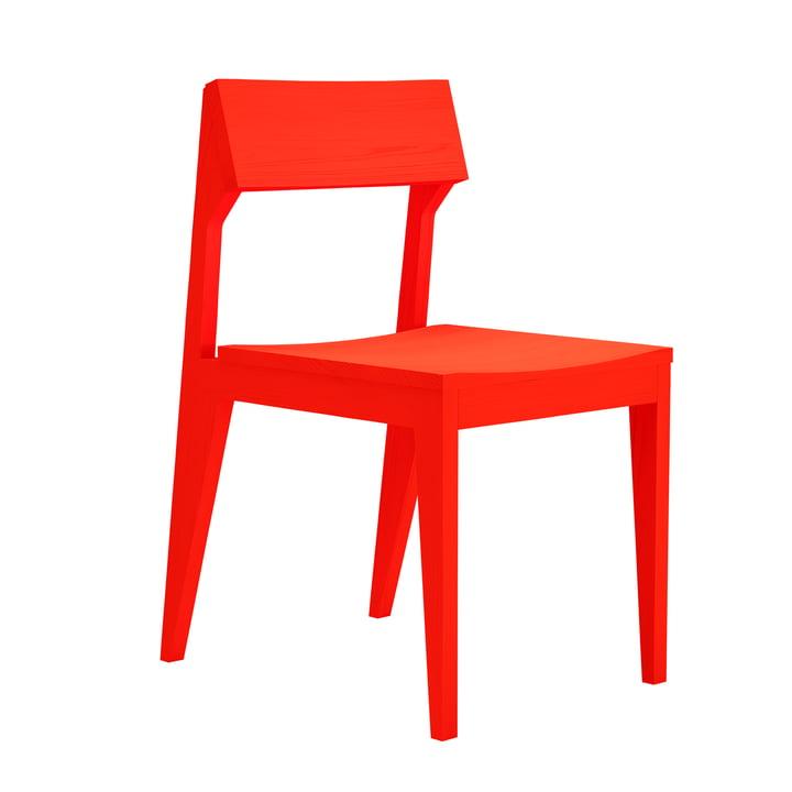 Schulz Stuhl von Objekte unserer Tage in leuchtrot