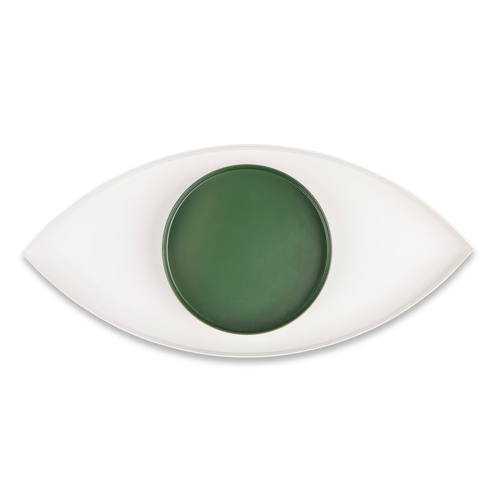 The Eye Tablett 2er-Set, weiß / grün von Doiy