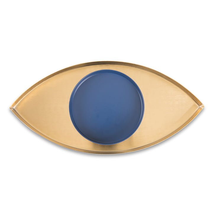 The Eye Tablett 2er-Set, gold / blau von Doiy