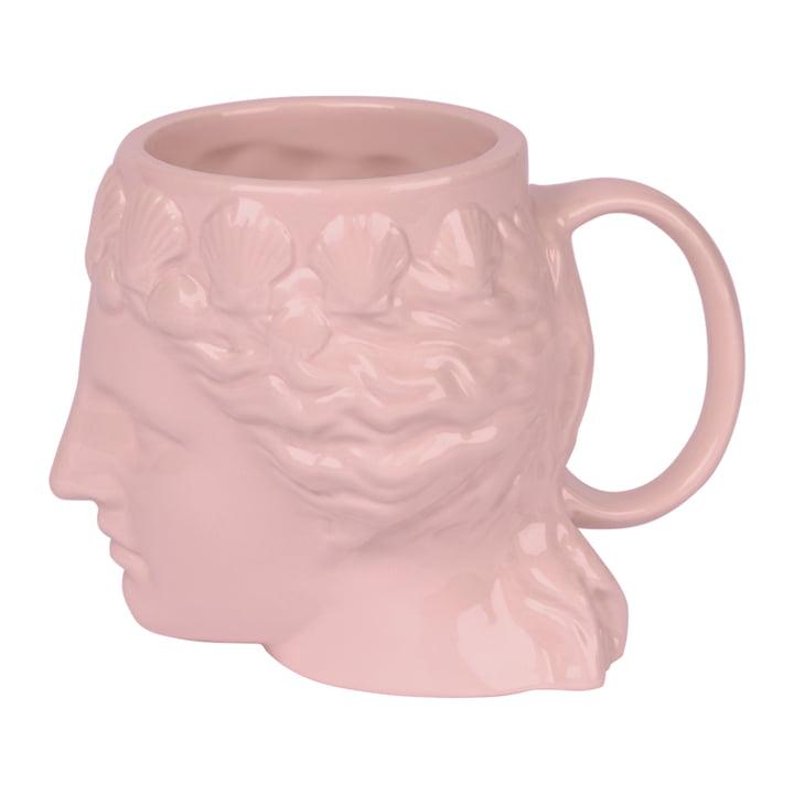 Aphrodite Becher mit Henkel, rosa von Doiy