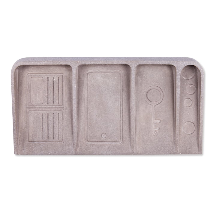 Le Videpoche Ablage, betongrau von Doiy