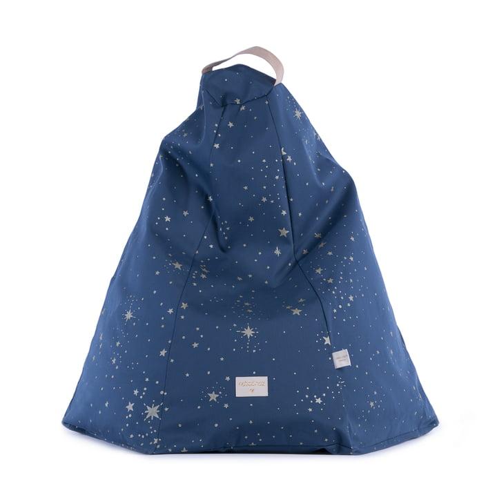 Marakech Sitzsack, gold stella / night blue von Nobodinoz