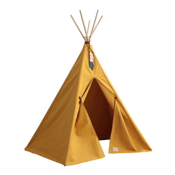 Nevada Tipi-Zelt, farniente yellow von Nobodinoz