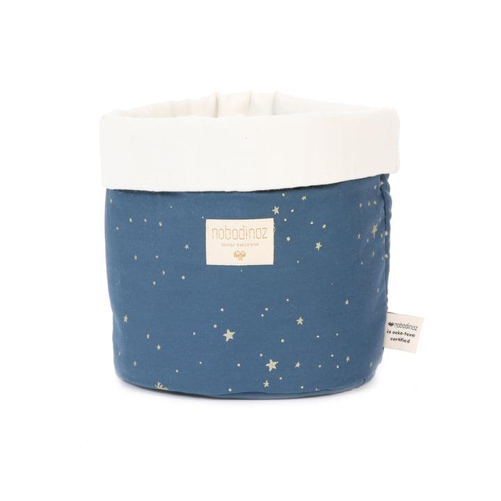Panda Aufbewahrungskorb small, 19 x 15 cm, gold stella / night blue von Nobodinoz
