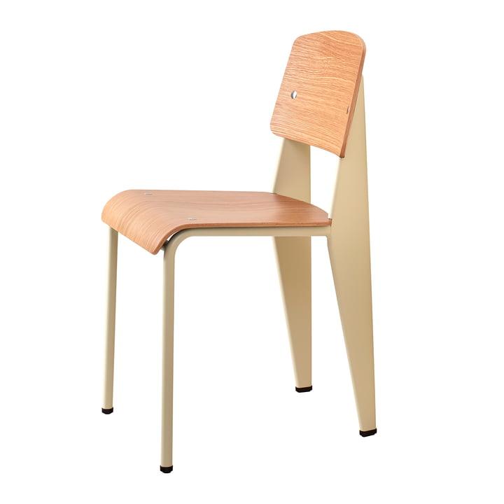Prouvé Standard Stuhl von Vitra in Eiche natur / ecru