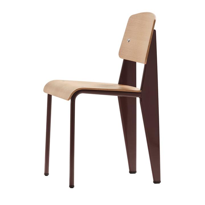 Prouvé Standard Stuhl von Vitra in Eiche natur / chocolate