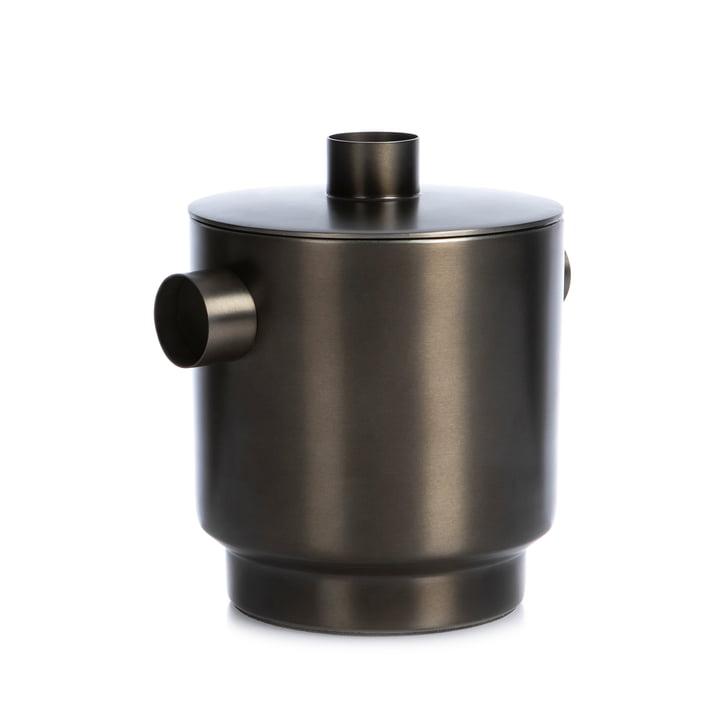 Rondo Eiswürfelbehälter small, Stahl schwarz, Ø 13 cm von XLBoom