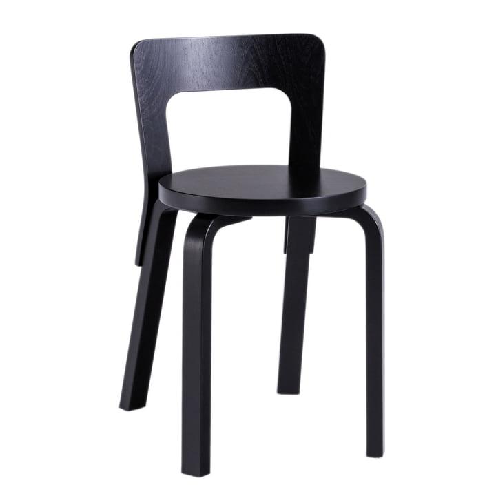 65 Stuhl von Artek in schwarz