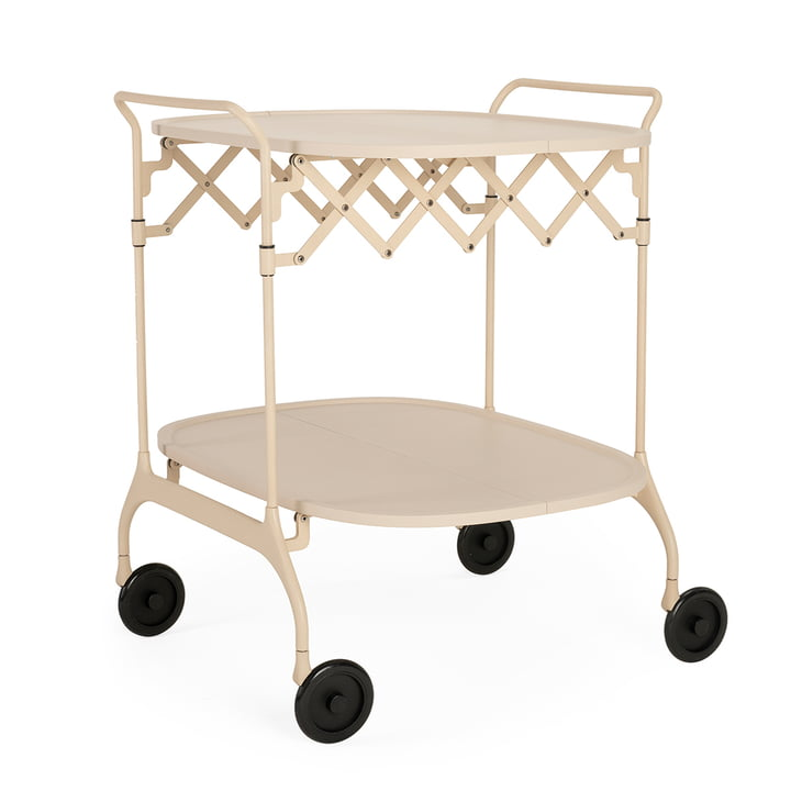 Gastone Servierwagen, monochrom crème matt von Kartell