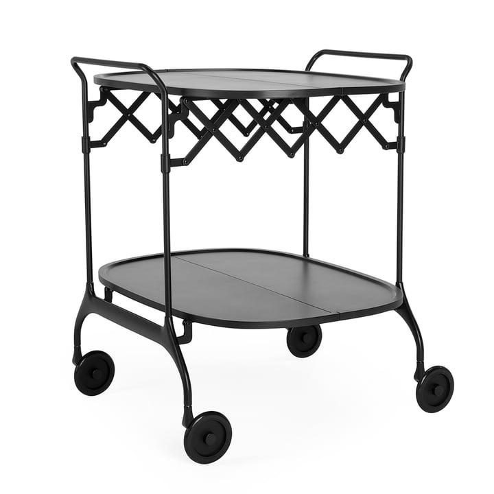 Gastone Servierwagen, monochrom schwarz matt von Kartell