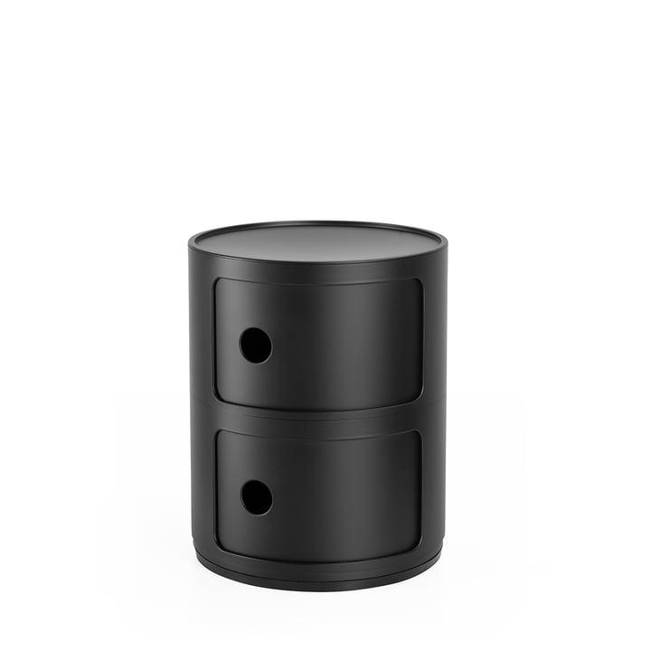 Componibili 4986, schwarz matt von Kartell