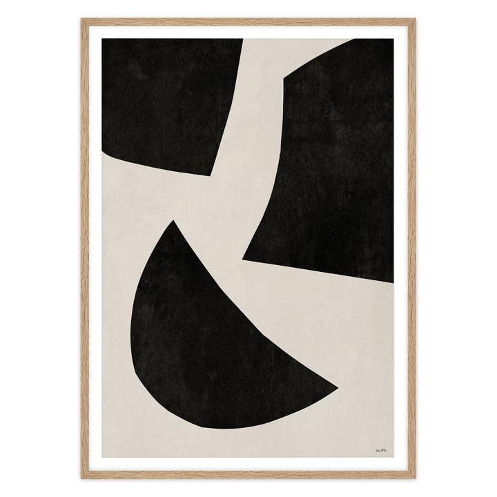 artvoll - UNIT No 1 black, Rahmen eiche