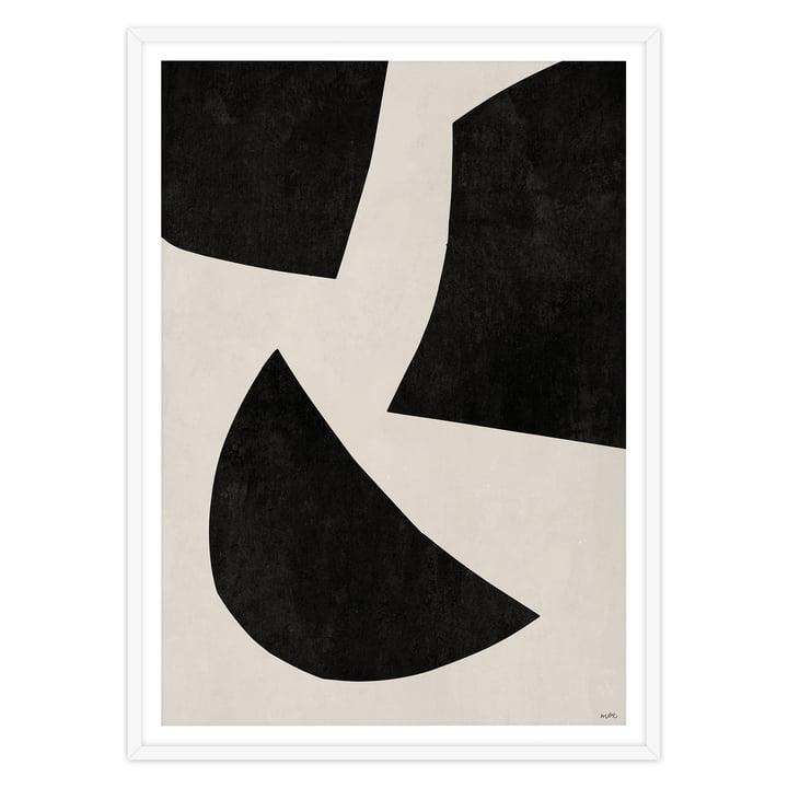 artvoll - UNIT No 1 black, Rahmen weiß