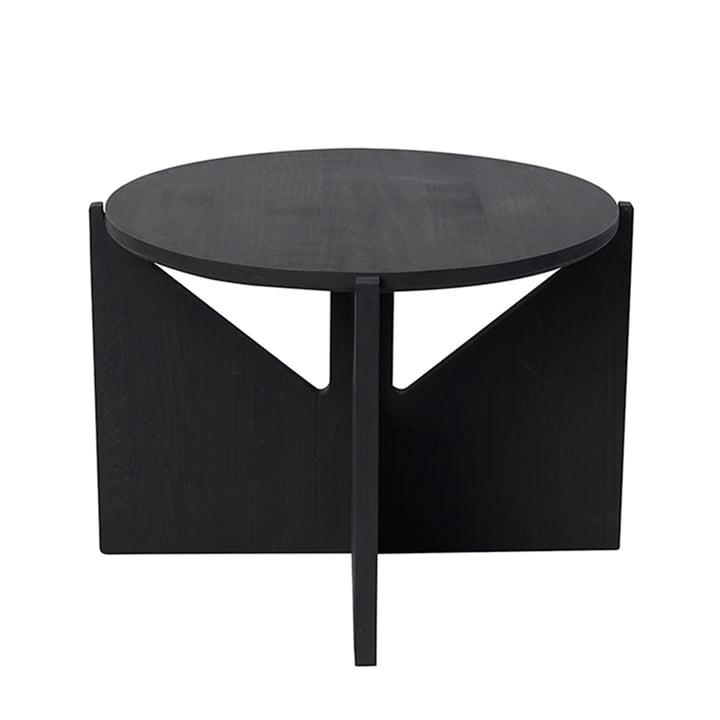 Couchtisch XL Ø 52 H 36 cm von Kristina Dam Studio in schwarz