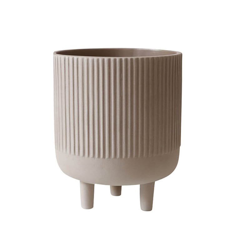 Bowl Blumentopf L Ø 18 cm von Kristina Dam Studio in grau