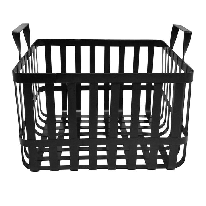 Der Wire Aufbewahrungskorb H 26 cm, schwarz aus der Collection