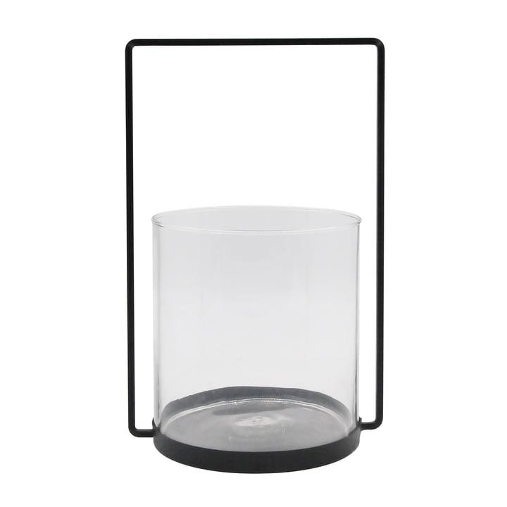 Das Windlicht Metall H 36 cm, schwarz aus der Connox Collection