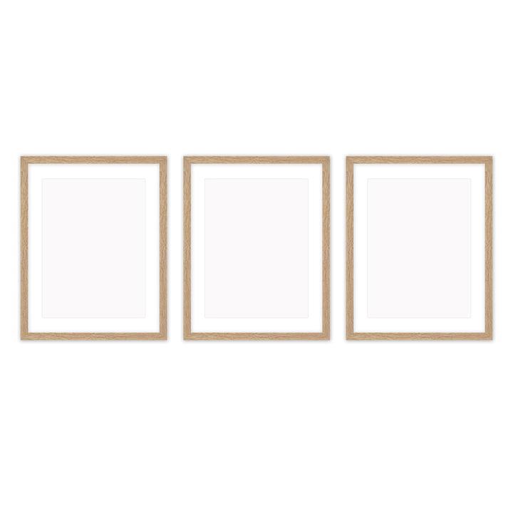 Frame it Bilderrahmen 30 x 40 cm Set (3-teilig), Eiche von Connox Collection