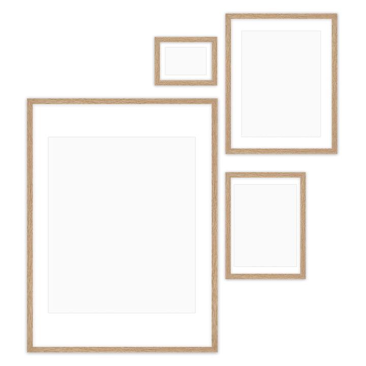 Gallery Wall Bilderrahmen-Set (4-teilig), Eiche von Connox Collection
