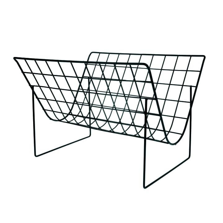 Wire Zeitschriftenhalter, schwarz von HKliving