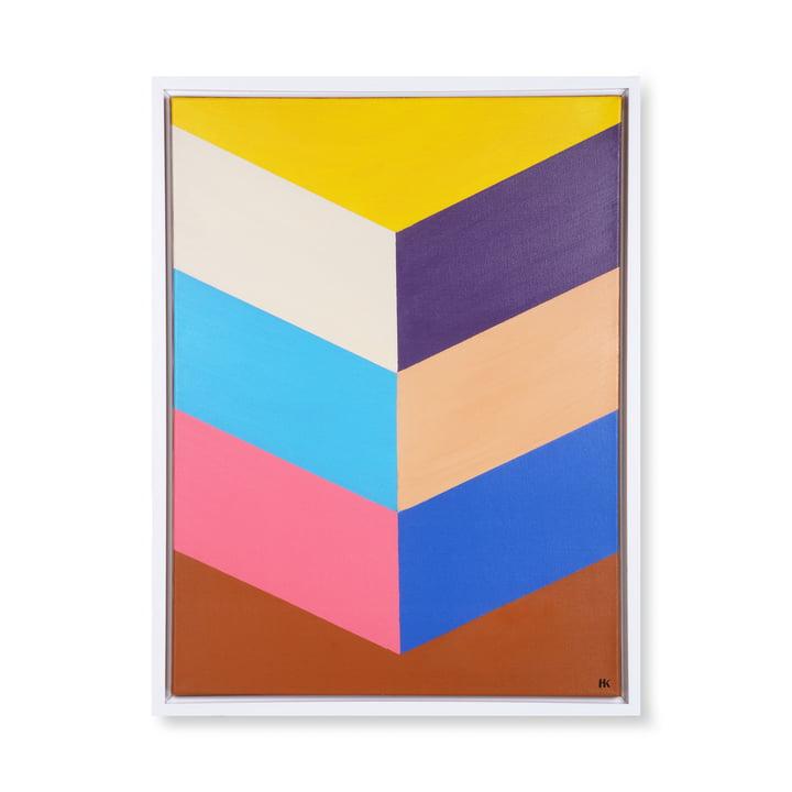 Colourful Strokes Bild (gerahmt), 80 x 60 cm, mehrfarbig von HKliving