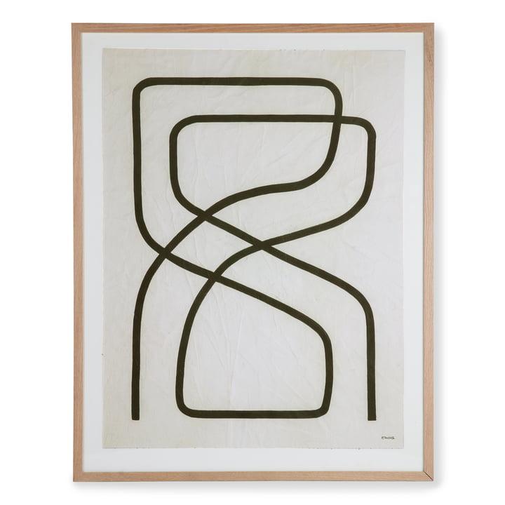 HKliving - Art Frame by Benjamin Ewing Bild (gerahmt), 75 x 95 cm, schwarz / weiß