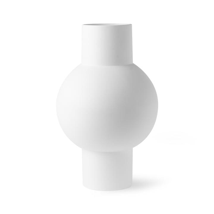 Vase M, Ø 21 x H 32 cm, matt weiß von HKliving