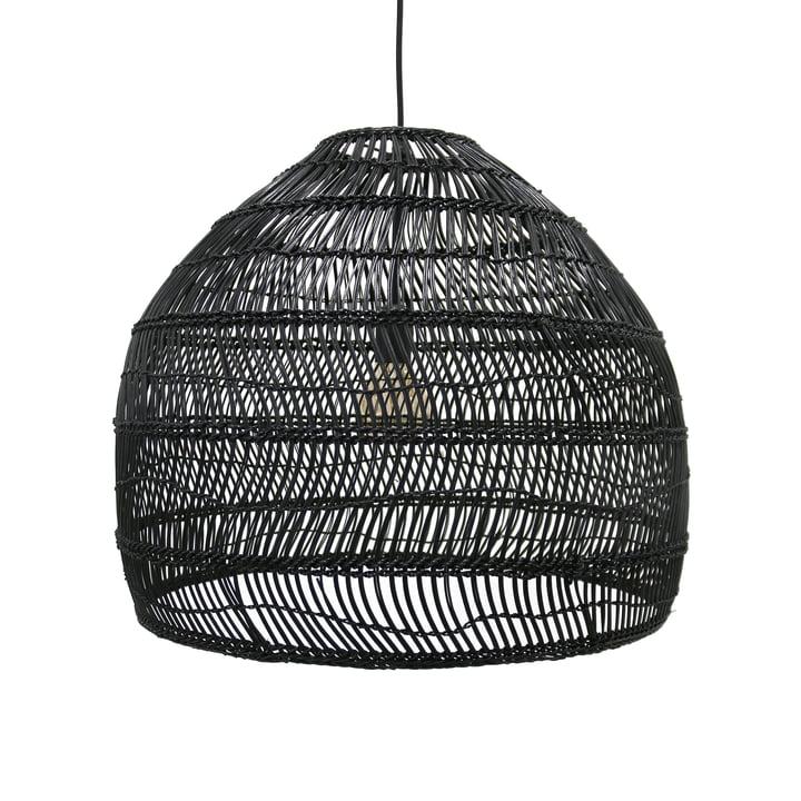 Wicker Pendelleuchte M Ø 60 x H 50 cm von HKliving in schwarz
