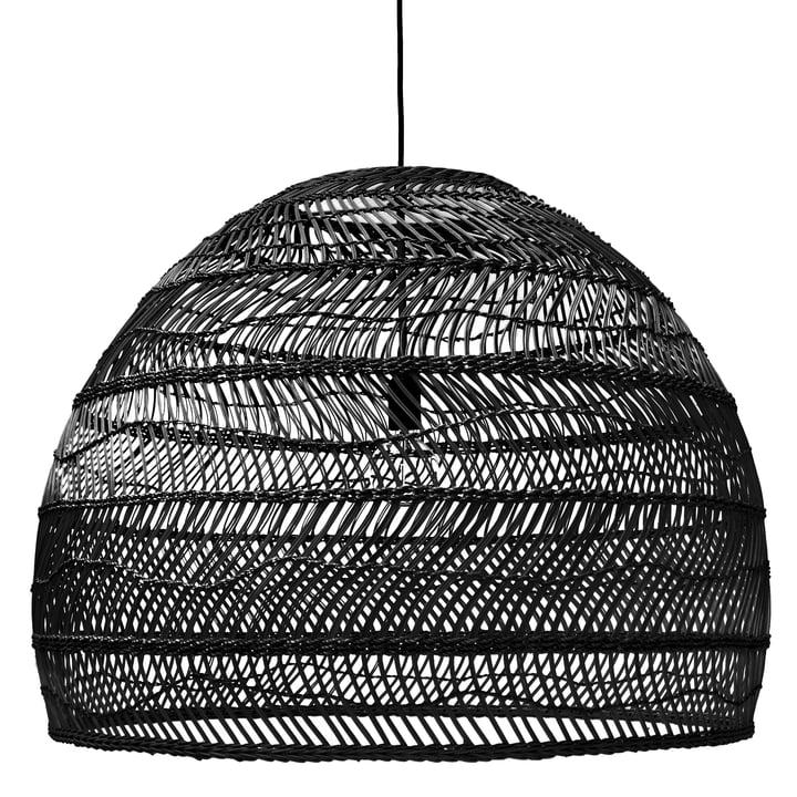 Wicker Pendelleuchte L Ø 80 x H 60 cm von HKliving in schwarz