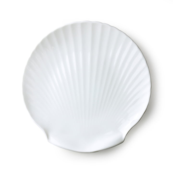 Athena Muschel Serviertablett Ø 27 cm von HKliving in weiß