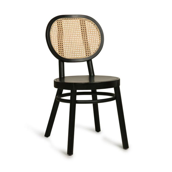 Retro Webbing Stuhl, schwarz von HKliving