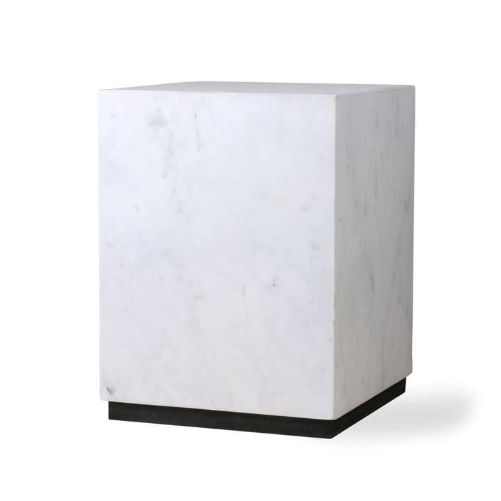 Block Beistelltisch M, Marmor, weiß/schwarz von HKliving