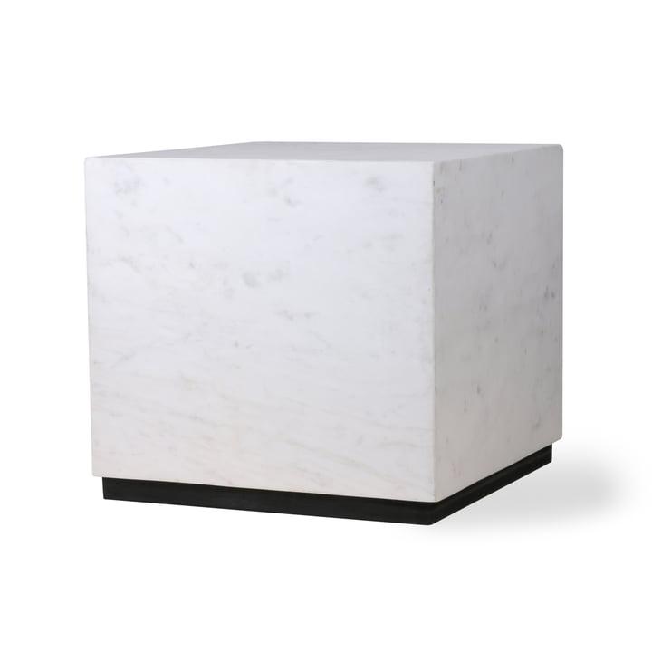 Block Beistelltisch L, Marmor, weiß/schwarz von HKliving