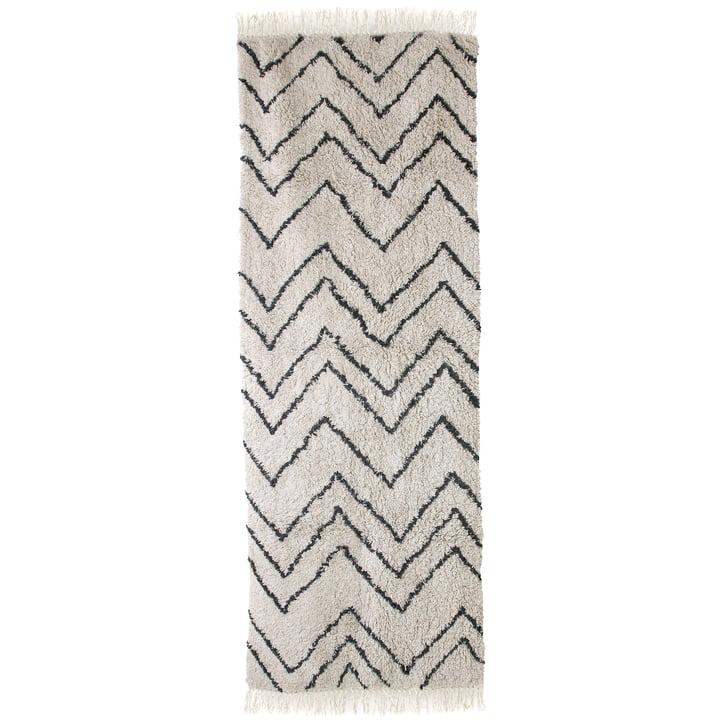 Läufer Zigzag 75 x 220 cm von HKliving in schwarz / weiß