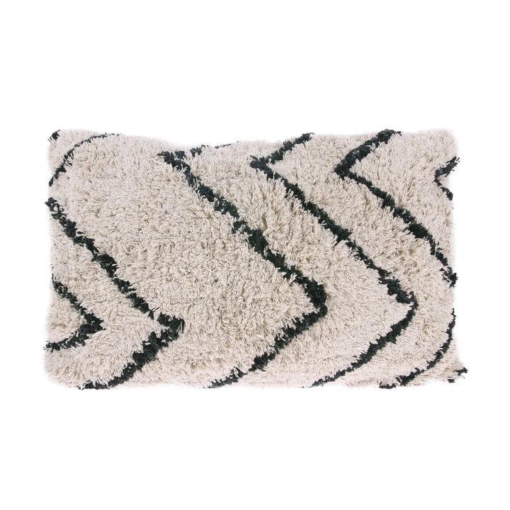 Kissen Zigzag 60 x 40 cm von HKliving in schwarz / weiß